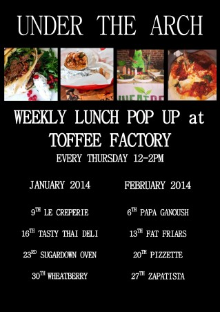 Lunch pop up Jan Feb 2014